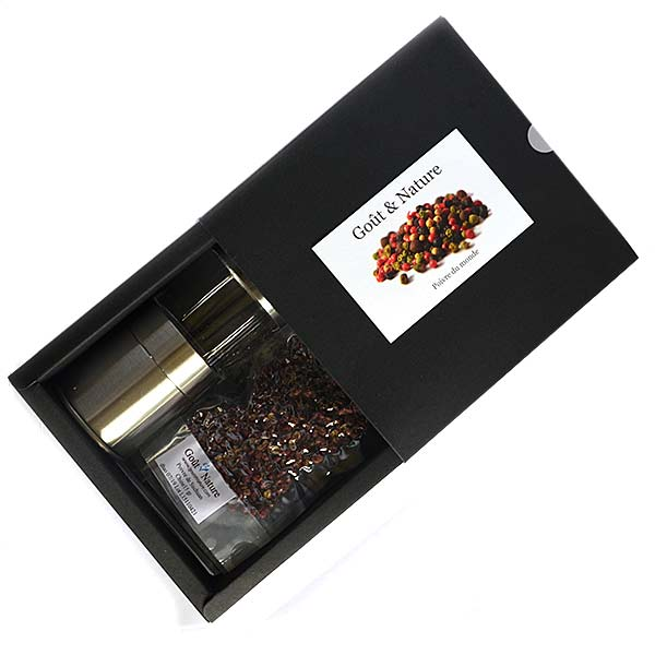 coffret cadeau autour des poivres du monde poivre et sel achat magasin conseil recette. Black Bedroom Furniture Sets. Home Design Ideas