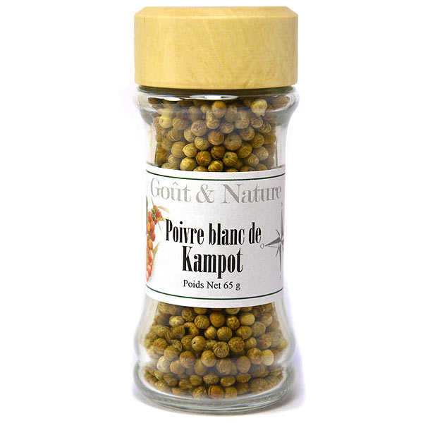 Poivre de Kampot en grain, poivre blanc classé parmi les meilleurs ...